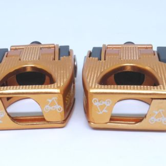 Copper colored aluminium STRIDA folding pedals - Bicycle pedals - Folding pedals - Pedals - ST-PDS-003