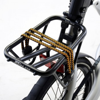 Black aluminium STRIDA rear rack with straps - rear rack - ST-RK-002 - strida