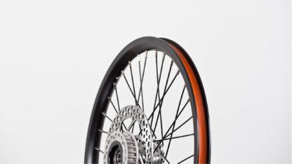 """Speichenrad-Satz 16"""", Felge mit Bremsscheiben und Freilauf - schwarz (ohne Reifen) - 448-16-black-set brakediscs freewheel - Rad - Räder"""