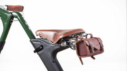 Brown leather STRIDA saddle - Bike seat - ST-SDL-003 - strida