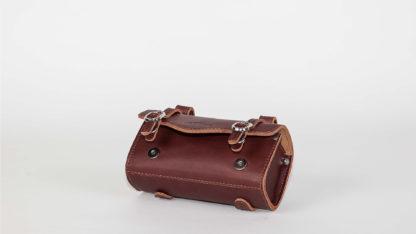 Brown leather STRIDA saddlebag - bag - Saddle bag - ST-SB-008 - strida