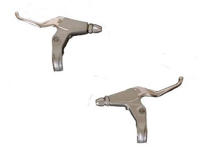 Silver brake lever set - 225-02-SL - Brake levers