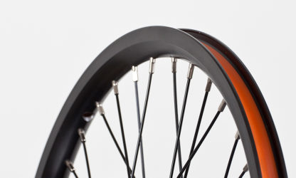 Front 18-inch STRIDA Rim Black Aluminium wheel - 448-18-spoke-black-front - Wheel - Wheels