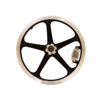 Front 16-inch STRIDA LT Rim black wheel - 448-16-LT-black-front - Wheel - Wheels
