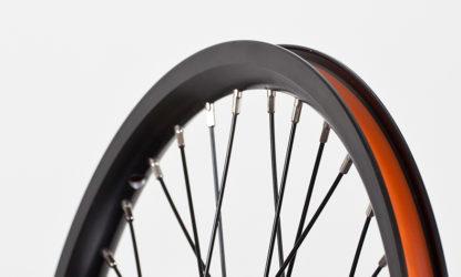 Front 16-inch STRIDA Rim Black Aluminium wheel - 448-16-spoke-black-front - Wheel - Wheels