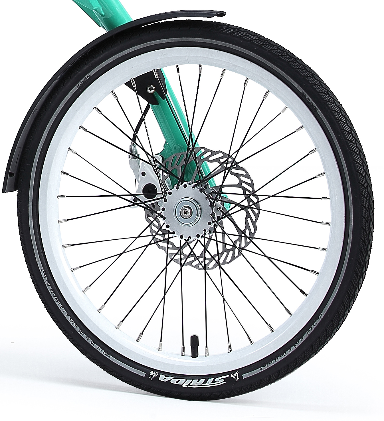 18 Inch Tires >> 18 Inch White Aluminium Strida Wheel Rim Set With Brake Discs Freewheel Assembled Without Tires