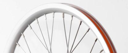 16 pouces roue à rayons avant STRIDA en aluminium (argent) - 448-16-spoke-silver-front - frein - Roue