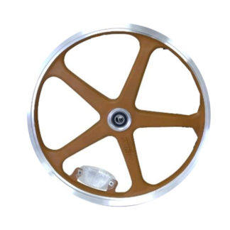 Rear 16-inch STRIDA LT Rim brown wheel - 448-16-LT-brown-rear - Wheel - Wheels