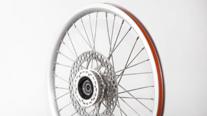 18-inch Silver Aluminium STRIDA Wheel Rim set with brake discs / freewheel assembled (without tires) - 448-18-silver-set brakediscs freewheel - Wheel - Wheels