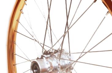 18 pouces roue à rayons arrière STRIDA en aluminium (cuivre) - 18 pouces - 448-18-spoke-copper-rear - frein
