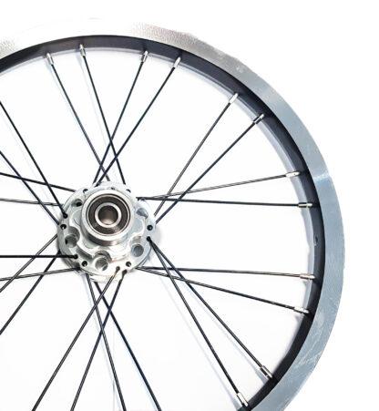 16 pouces roue à rayons arrière STRIDA en aluminium (noir) - 448-16-spoke-black-rear - frein - Roue