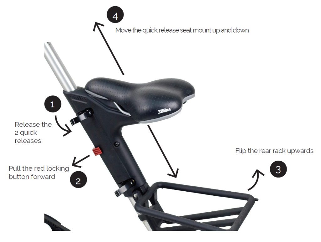 How can I move the Quick Release seat mount?