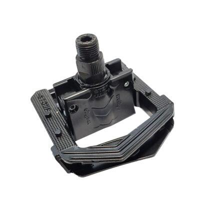 Leichte Klapppedale aus schwarzem Aluminium - F265-BB - Fahrradpedal - Klapppedale - Pedale